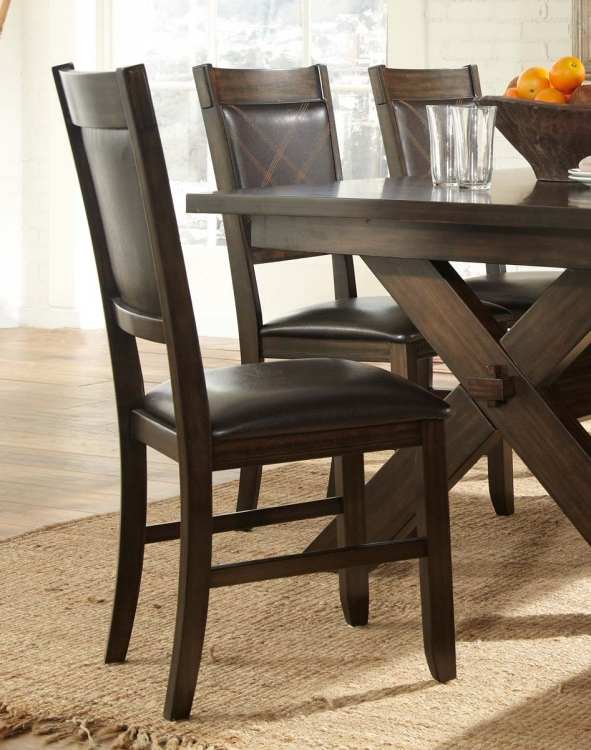 Roy Side Chair - Espresso - Dark Brown Bi-Cast Vinyl