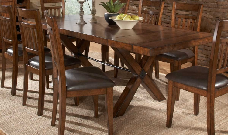 Vasquez Dining Table - Warm Oak - Homelegance