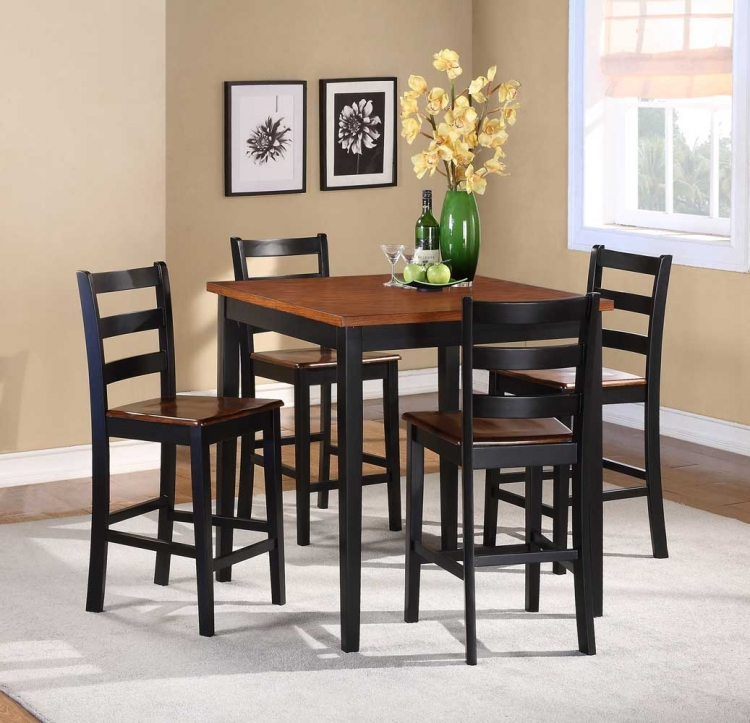 Lynn 5-Piece Counter Height Dining Set - Homelegance