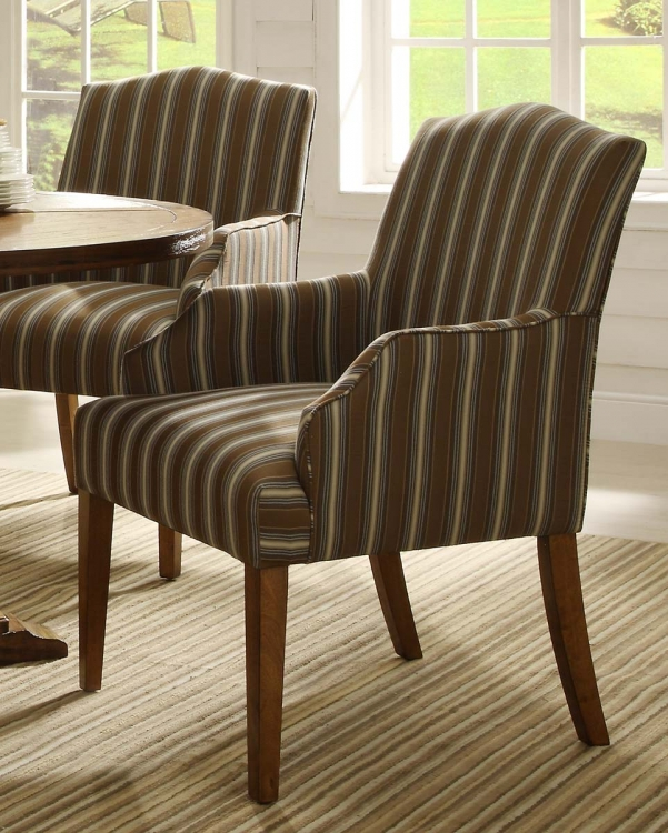 Euro Casual Arm Chair - Rustic Oak - Upholstered