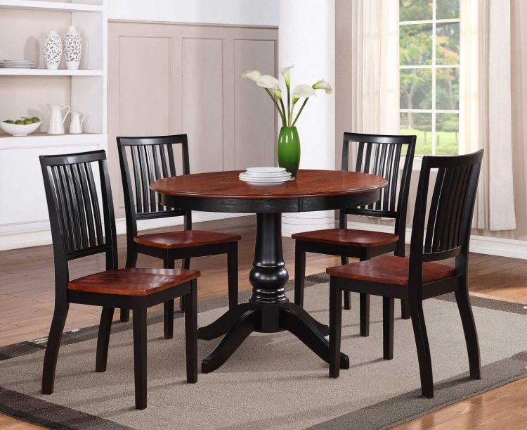 Sunburry 5PC Dinette Set - Medium Cherry