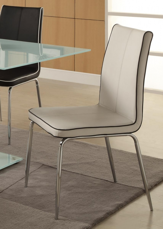 Goran Side Chair - White - Bi-Cast Vinyl