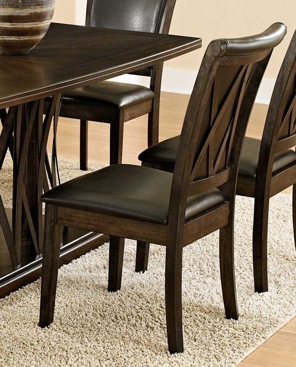 Garvey Side Chair - Dark Brown - Bi-Cast Vinyl