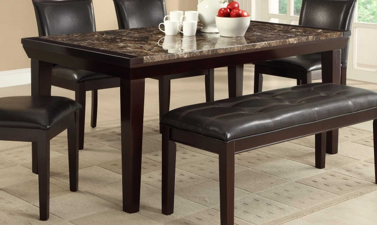Thurston Faux Marble Dining Table - Espresso�