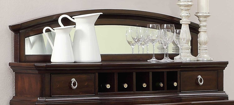 Homelegance Keegan Sideboard Top with Mirror - Cherry