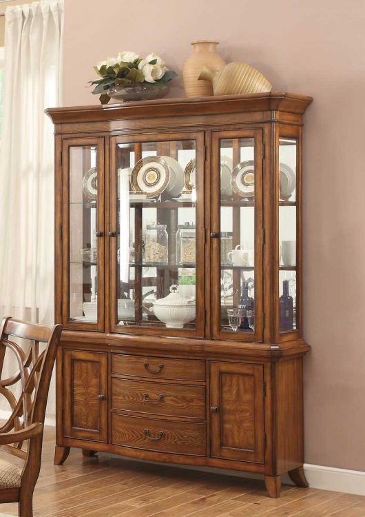 Keegan II China Cabinet - Oak