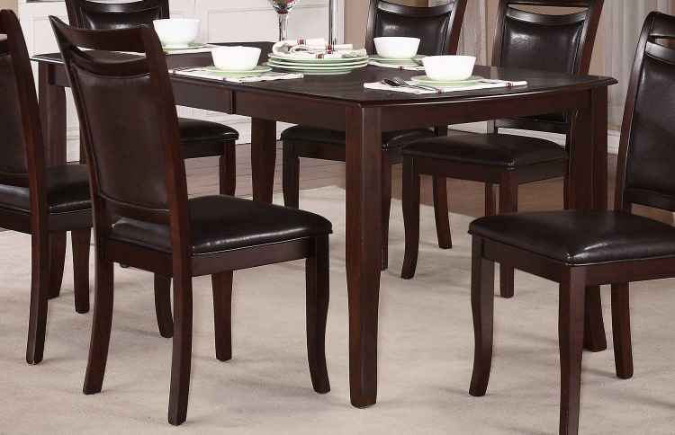 Maeve Dining Table - Dark Cherry - Homelegance