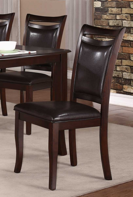 Maeve Side Chair - Dark Cherry - Dark Brown Bi-Cast Vinyl