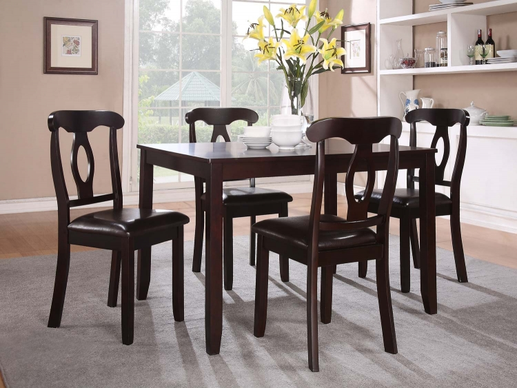 Keira 5PC Dinette Set - Dark Cherry - Homelegance