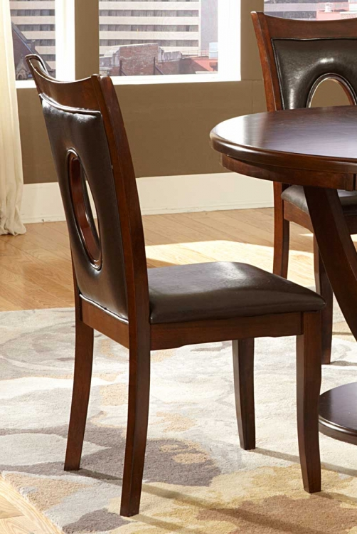 VanBure Side Chair - Dark Brown - Bi-Cast Vinyl - Homelegance