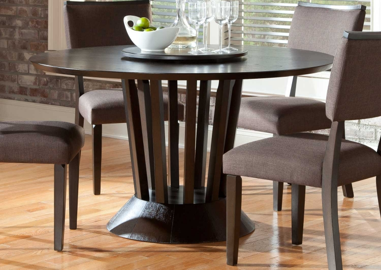 Lobelia  Round Dining Table - Dark Walnut