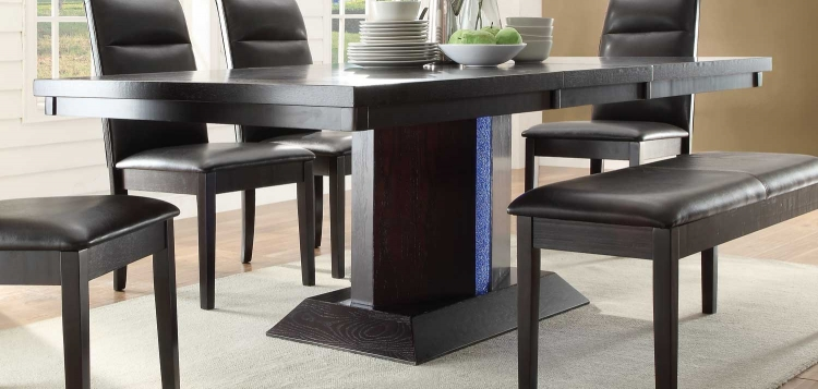 Pulse Dining Table with LED Light - Espresso