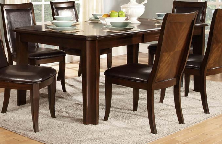 Wolfe Dining Table - Medium Brown