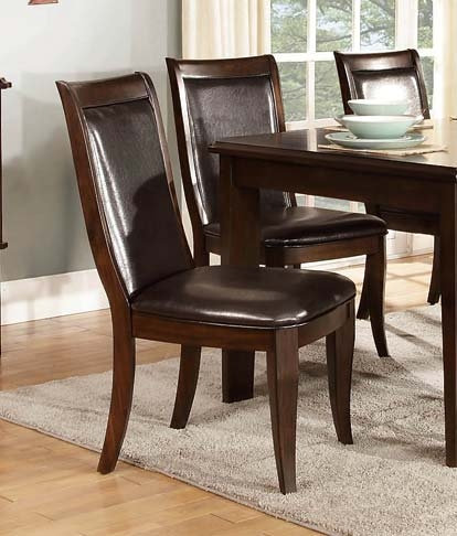 Wolfe Side Chair - Dark Brown - Bi-Cast Vinyl