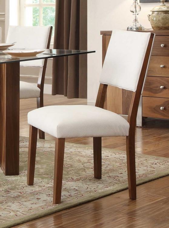 Aria Side Chair - White Bi-Cast Vinyl