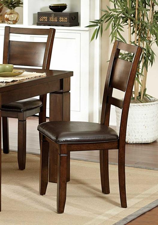 Finnian Side Chair - Dark Brown Bi-Cast Vinyl