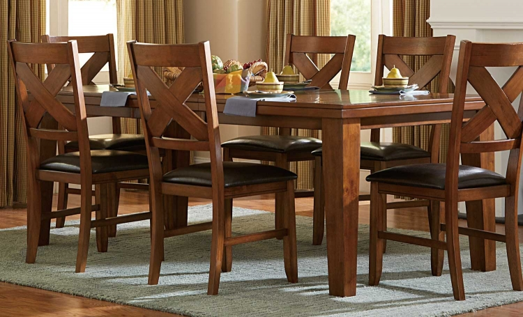 Silverton Dining Table - Warm Brown Cherry