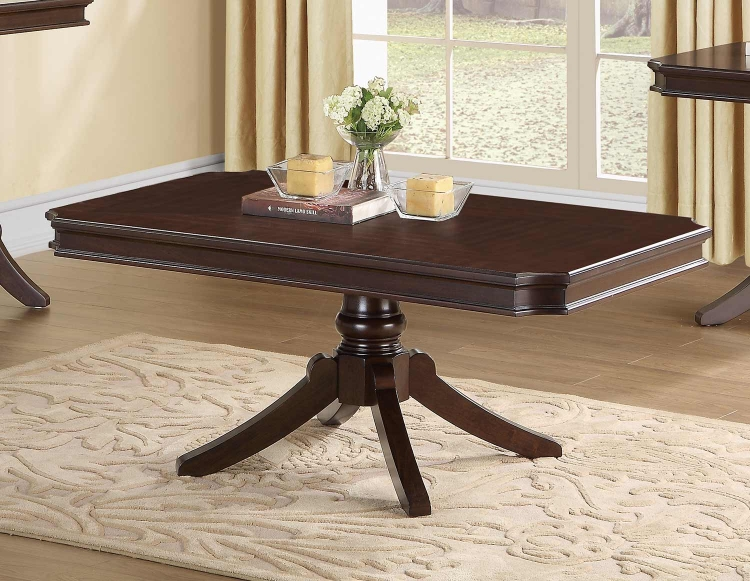 Marston Rectangular Cocktail/Coffee Table - Dark Cherry