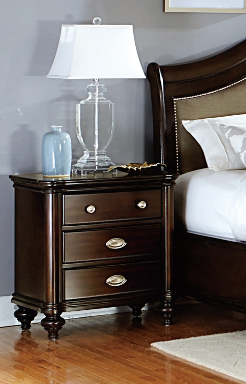 Marston Night Stand - Dark Cherry