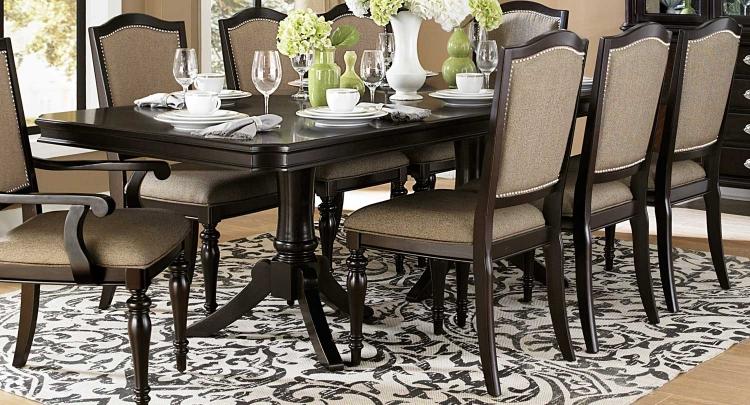 Marston Double Pedestal Dining Table - Dark Cherry