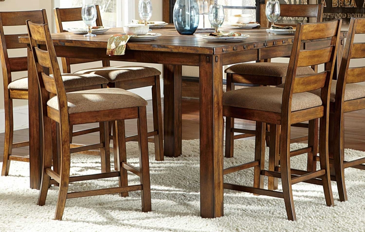 Ronan Counter Height Table - Natural Burnished Wood