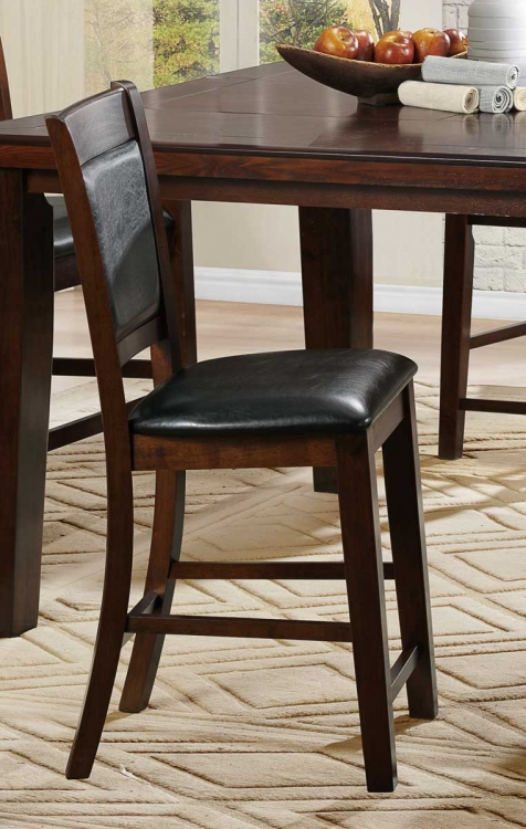 Weldon Counter Height Chair - Dark Brown Bi-Cast Vinyl