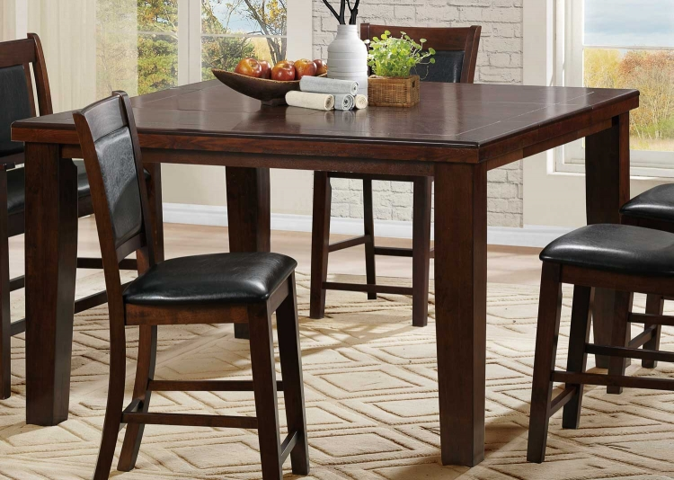 Weldon Counter Height Table - Espresso Dark Cherry