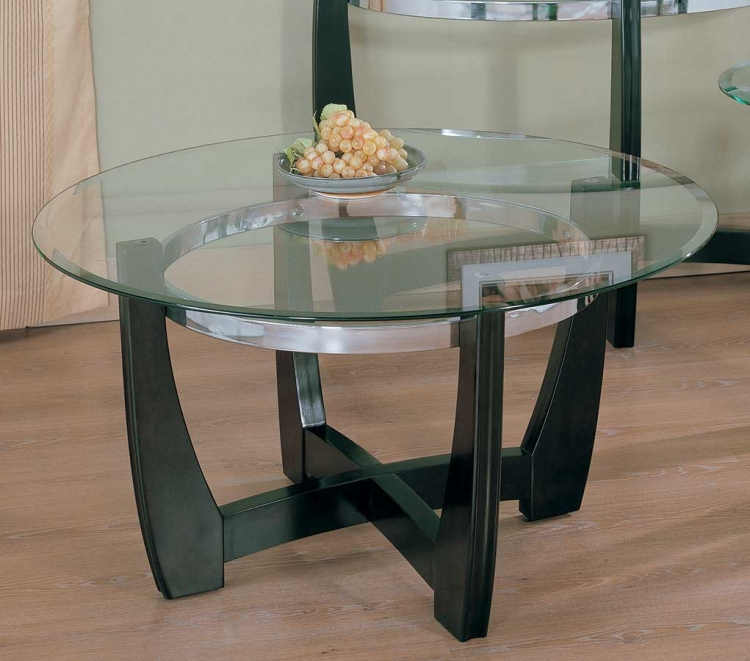 Raven Round Cocktail Table-Homelegance