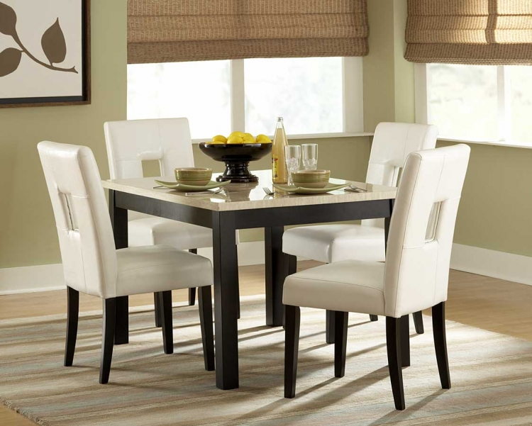 Homelegance Archstone -Piece Counter Height Dining Set with Faux
