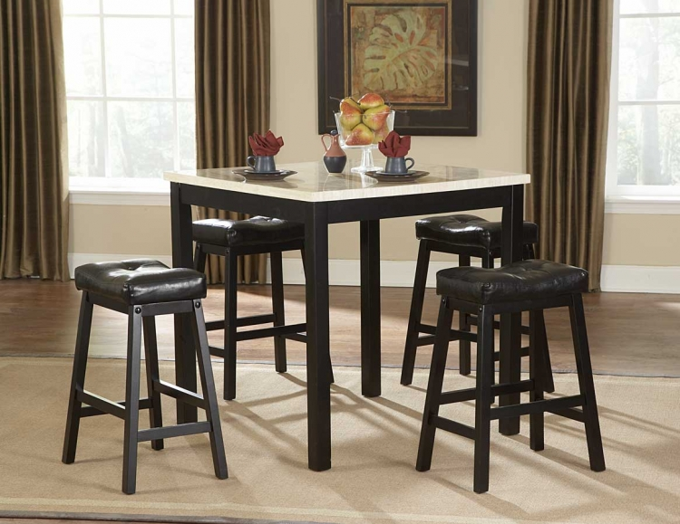 Archstone 5-Piece Counter Height Dining Set with Faux Marble
