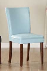 Belvedere Side Chair - Sky Blue - Homelegance