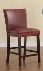 Belvedere Counter Height Dining Chair - Lava Red - Homelegance