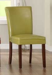 Belvedere Side Chair - Chartreuse Yellow - Homelegance