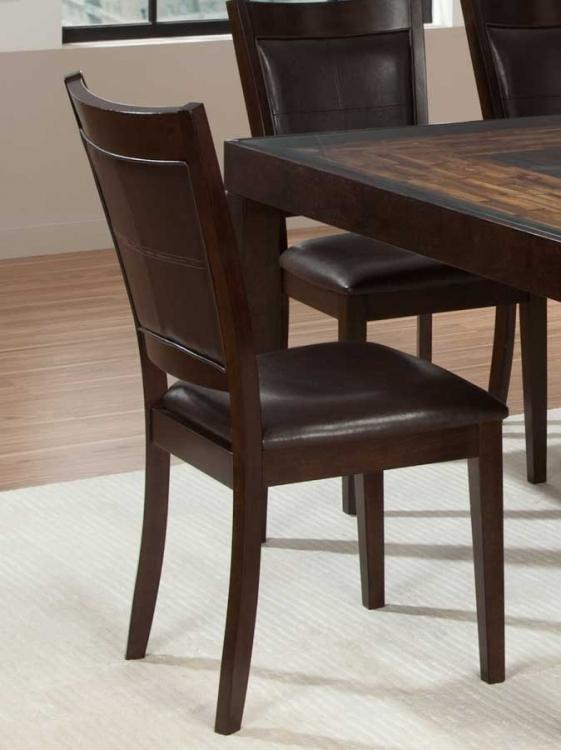 Vincent Side Chair - Dark Brown Bi-Cast