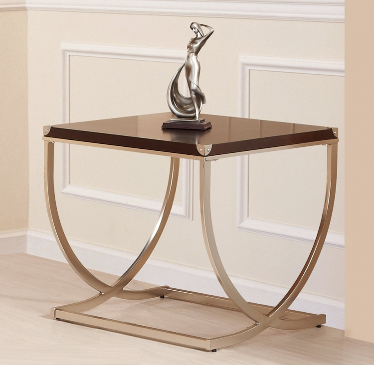 Eris End Table - Birch Veneer - Homelegance