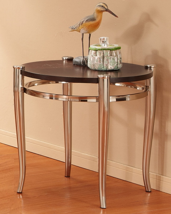 Coffey End Table - Brushed Nickel
