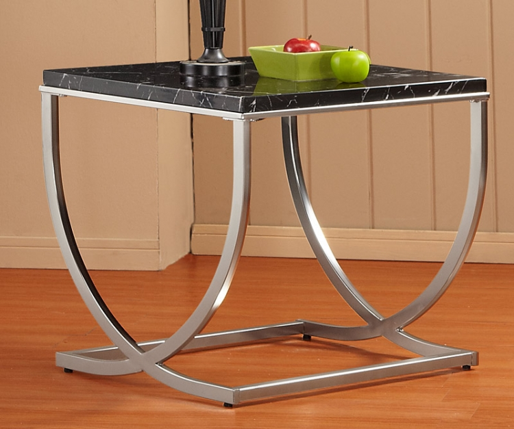 Recca End Table - Satin