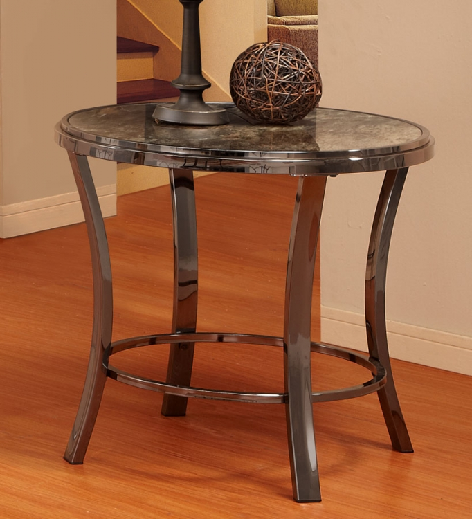 Willow End Table - Printed Tempered Glass
