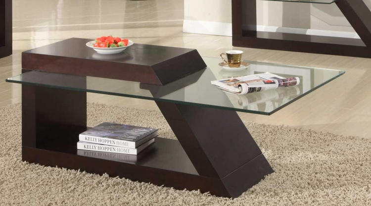 Jensen Cocktail Table - Espresso - Homelegance