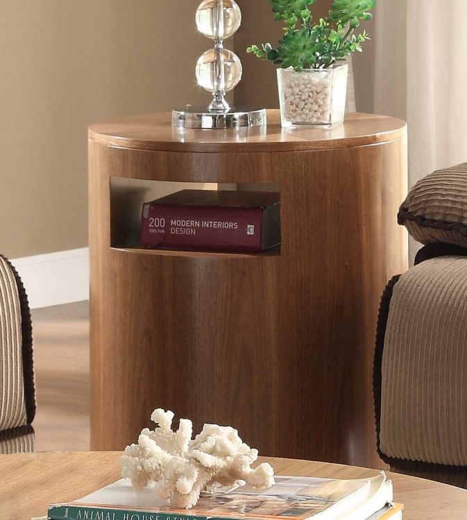 Aquinnan End Table - Natural Walnut - Homelegance