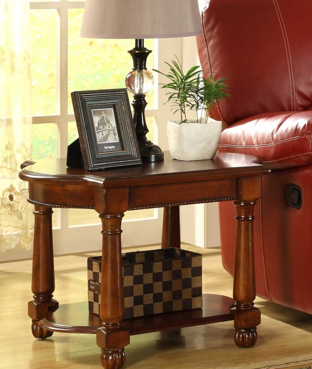 Amaya End Table - Warm Cherry