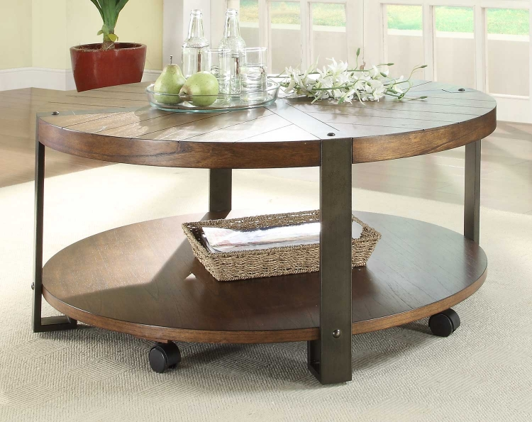 Northwood� Round Cocktail Table - Natural Brown