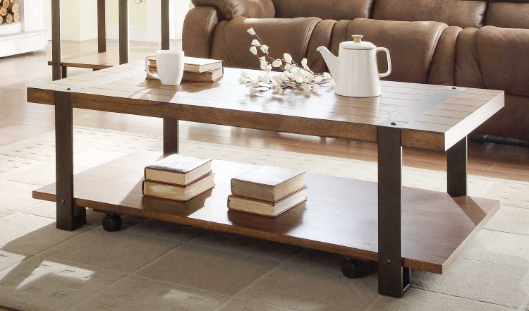 Northwood� Rectangular Cocktail Table - Natural Brown - Homelegance