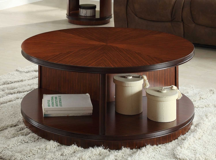 Orlin Round Cocktail Table - Cherry�