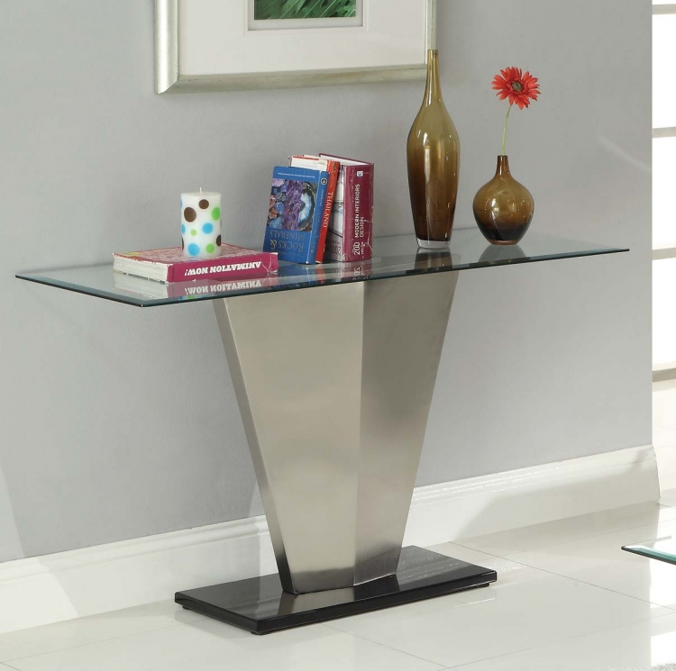 Silverstone Sofa Table - Brushed Chrome�