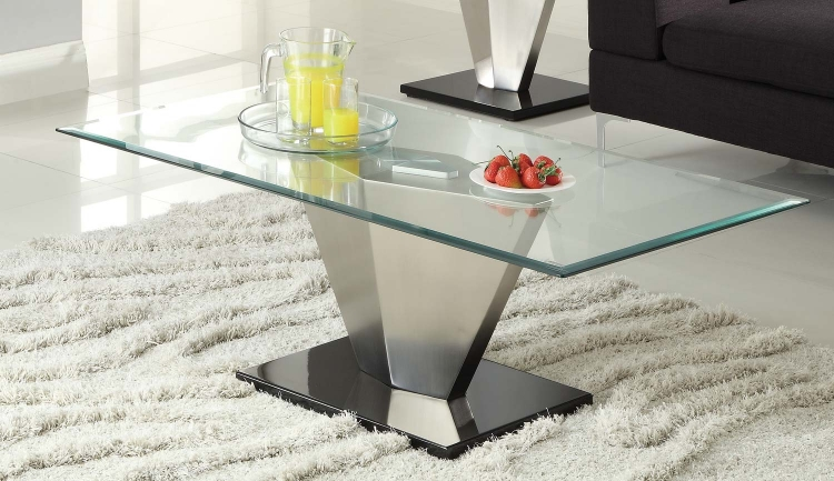 Silverstone Cocktail Table - Brushed Chrome� - Homelegance