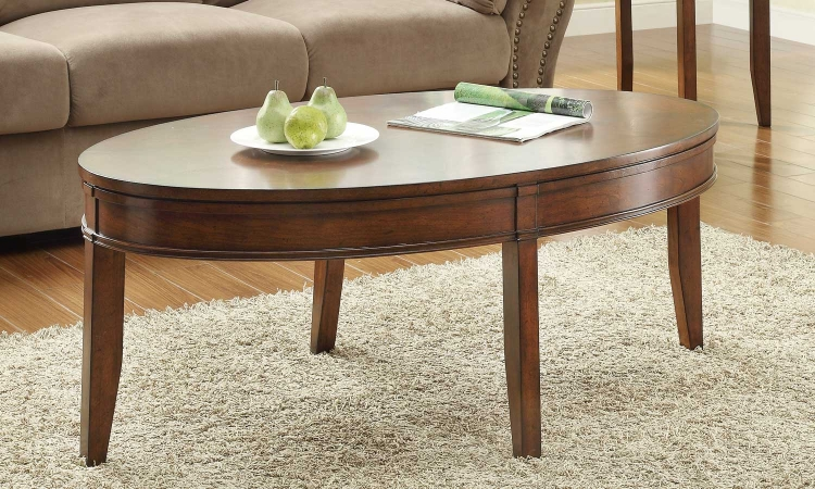 Parrish Oval Cocktail Table - Cherry� - Homelegance