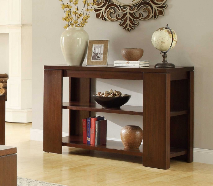 Akerman Sofa Table - Warm Cherry