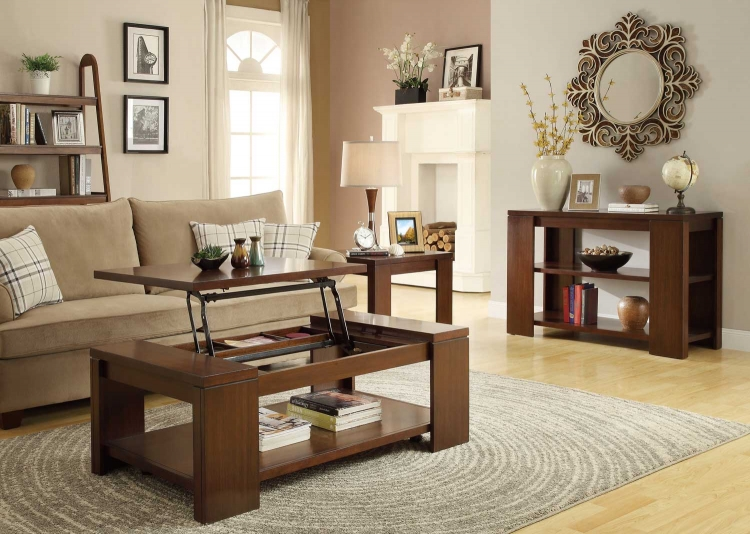 Akerman Occasional Table Set - Warm Cherry