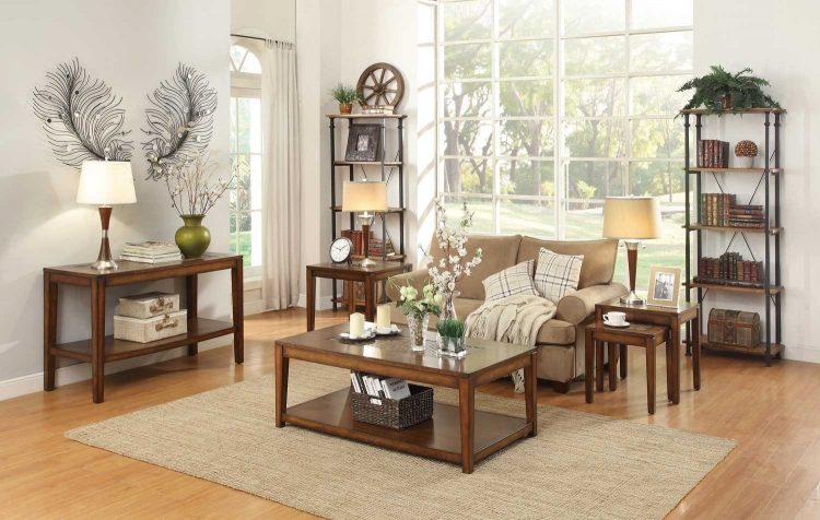 Antoni Occasional Table Set - Warm Brown Cherry